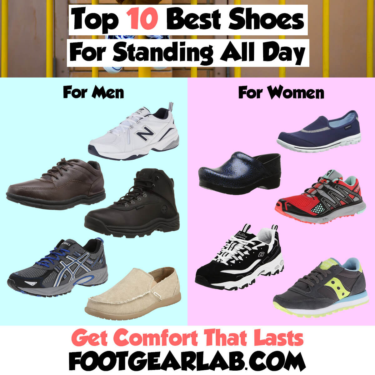 10 Best Shoes For Standing All Day At Work In 2018